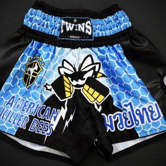Killer Bees Hive Blue Muay Thai Shorts