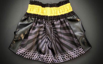 Killer Bees Black and Yellow Muay Thai Shorts