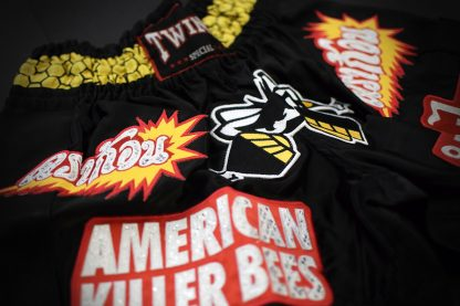 Killer Bees Black Muay Thai Shorts