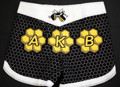 Killer Bees Hive Black Muay Thai Shorts