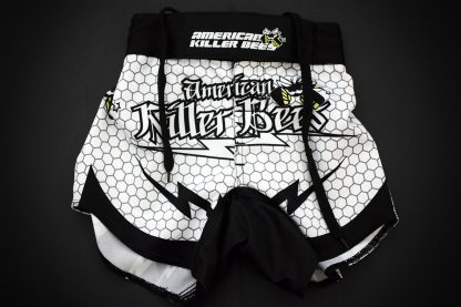 Hive White Muay Thai Shorts